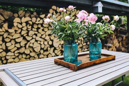 Salon de jardin en bois