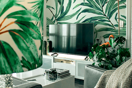 tendance tropical jungle interieur