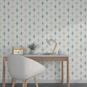style scandinave papier peint géométrique